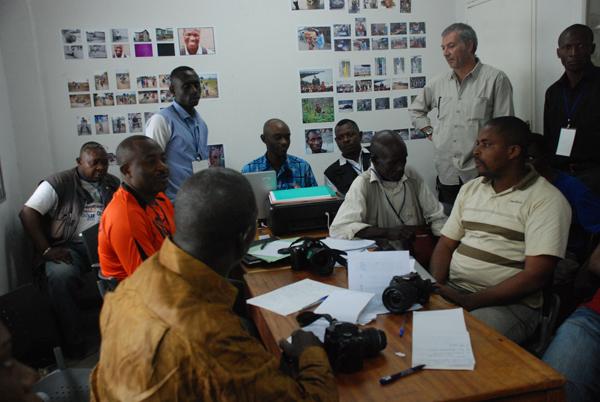 """Un atelier avec les photographes pendant le festival """"Afrikaribu"""""""