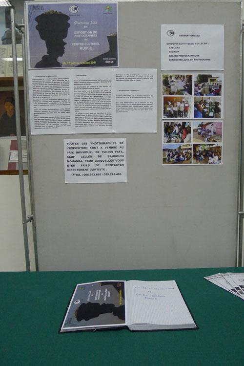 Affichage d'informations sur le Collectif Génération Elili