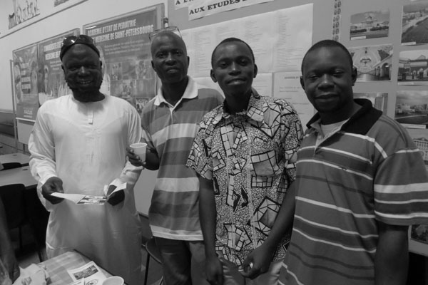 Daouda Ndoungani, Euloge SAMBA, Morley RUSSEL et Armel MOUNKALA