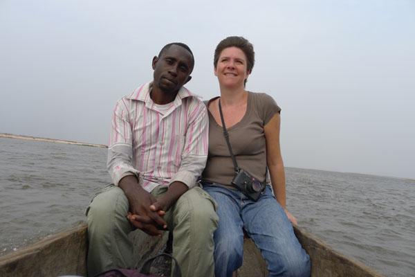 au retour Arnaud et Emilie (qui se cramponne aux bords!)