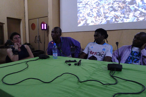 Emilie, Francis au micro, Rodrig et Baudouin